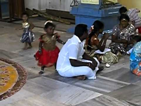 Cute Little Girl At A Temple In Chennai (tamil Nadu, India) video