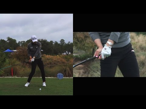 SO YEON RYU - HANDS AT IMPACT (CLOSE UP SLOW MOTION) DRIVER GOLF SWING CME CHAMPIONSHIP 2014 1080p