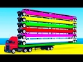 LEARN COLORS and Long Cars Learn Numbers w Spiderman Cartoon for Kids Learning Video