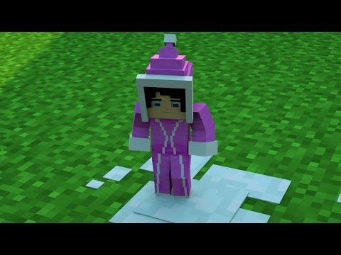 The first walk on the ice - Minecraft Animation verison