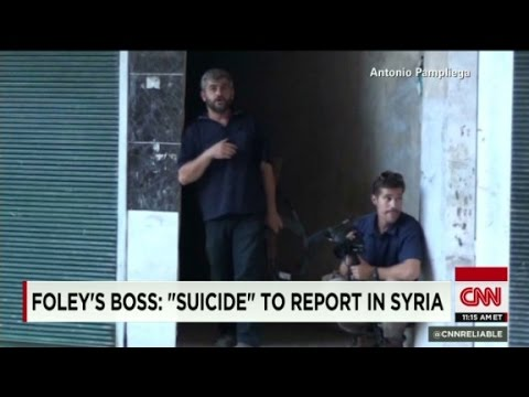 Foley's Boss: 'suicide' to report in Syria