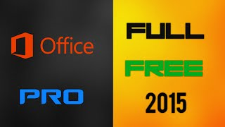 How To Get Microsoft Office PRO Plus 2013 [FULL] Free! (2015)