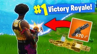 The *NEW* LEGENDARY MINI-GUN In Fortnite Battle Royale!