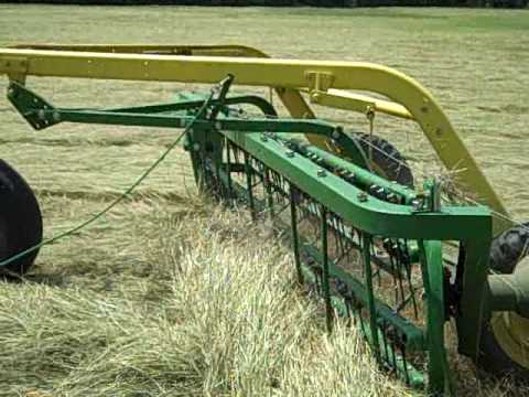 John Deere 51MT and 640 rake