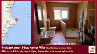 4-slaapkamer 3-badkamer Villa te Koop in Villa, Moraira, Alicante, Spain