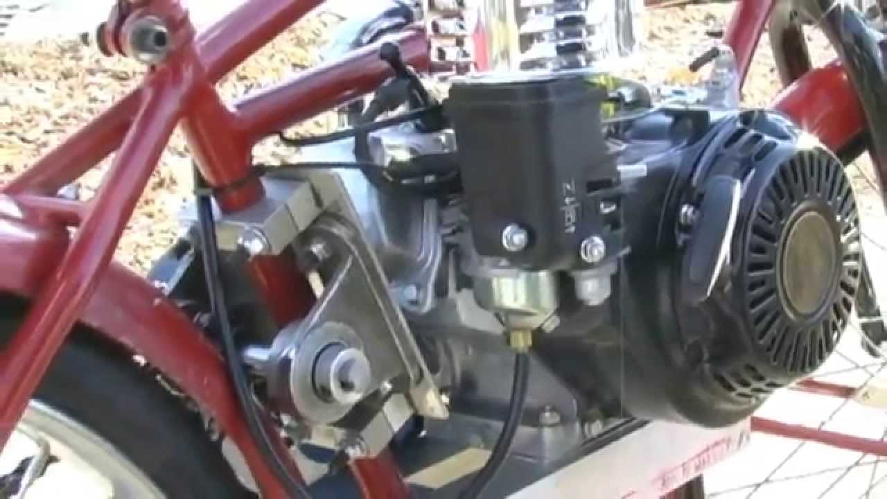 Homemade Motorbike With Gtc Tc2 Transmission Amp Honda 120 Gx First Drive Youtube