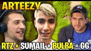 ARTEEZY Playing with SUMAIL and BULBA - Auto GG Dota 2 7.21d