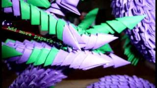 How To Make A 3d Origami Dragon (chinese Dragon) Won  2nd In State Fair Of 2012