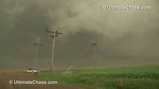 Extreme Wind from Developing Tornado (HD Video) - Tornado Alley, USA