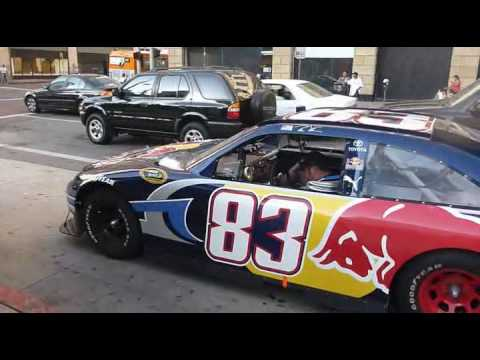 Redbull car #83 pulled over by Los Angeles Sheriffs