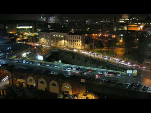 Manchester Roads - Time-Lapse at night. Watch as the city traffic rushes around Salford.