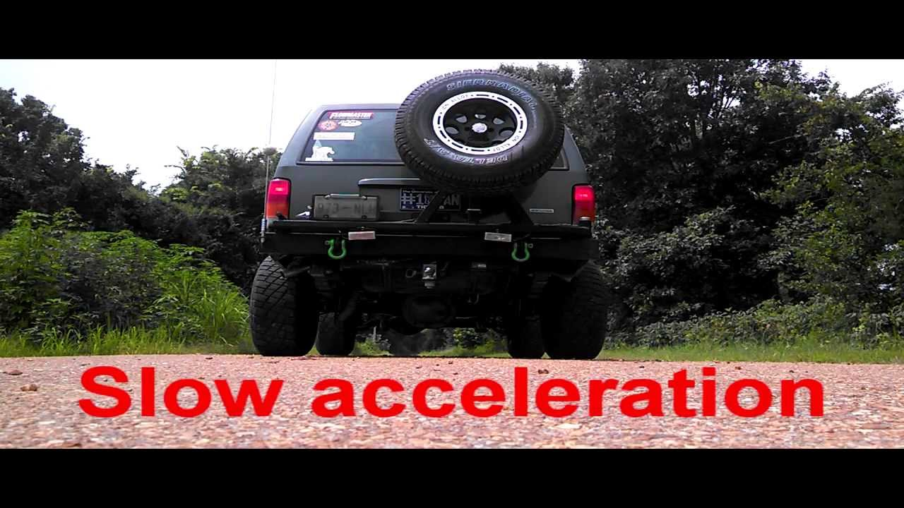 2000 jeep cherokee xj dual exhaust glasspack cherry bomb 4 0 youtube