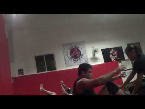 Wolfman Rolling at PTT w Hot Asian Chinese Girl Man vs Woman Mixed Wrestling Jiu jitsu Grappling!