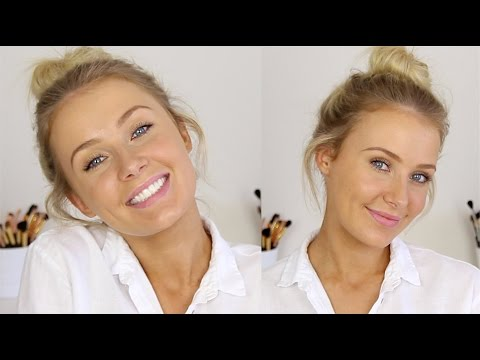 Messy Bun   Minimal Makeup: Effortless Summer Look! video