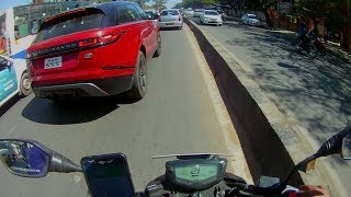 Sexy Red LAND ROVER RANGE ROVER VELAR on BANGALORE ROAD,  APACHE RTR 200 4V