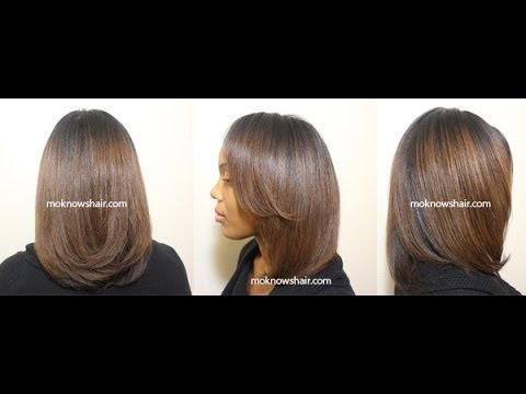 Straightening and Trimming Transitioning Hair