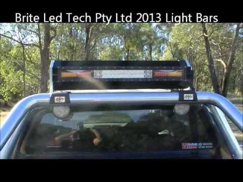 2013 Brite Led Tech Triple Light Bar Dvd Being Fitted To