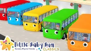 Color Bus Song + More Nursery Rhymes & Kids Songs - Little Baby Bum | ABCs and 123s