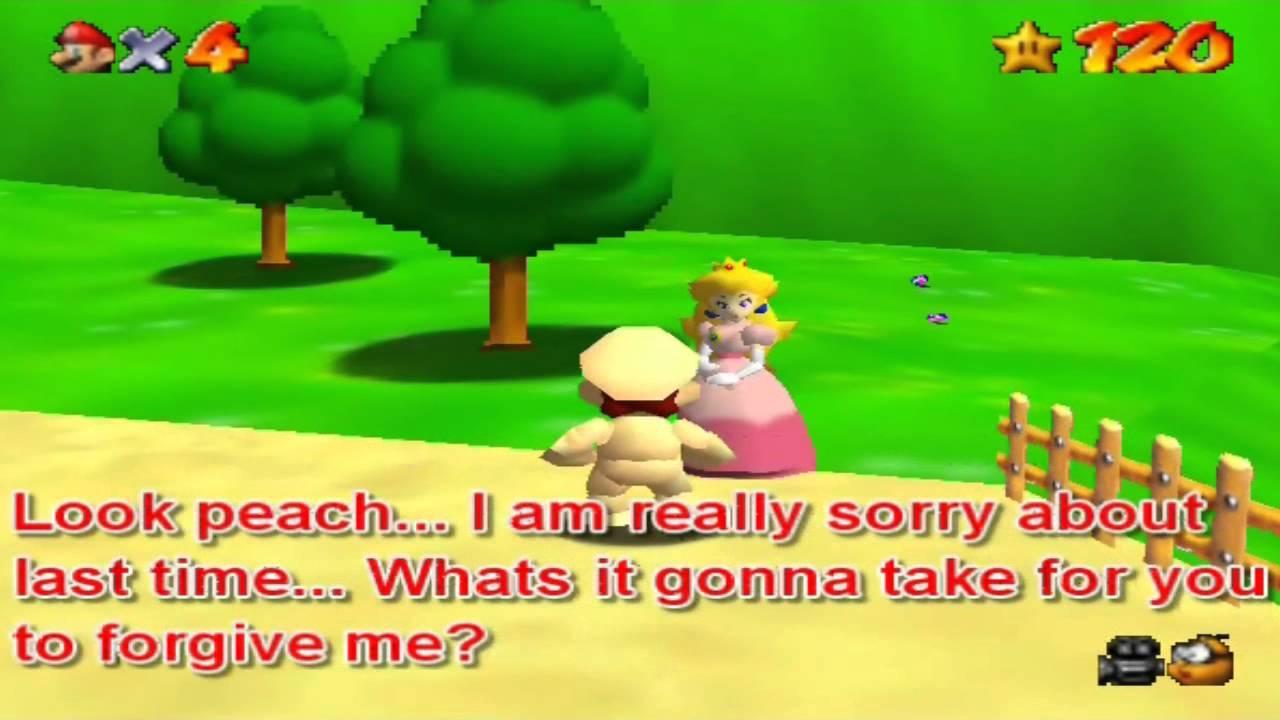 super Mario 64 bloopers part 4 (Sequel) naked Mario& Peach ...
