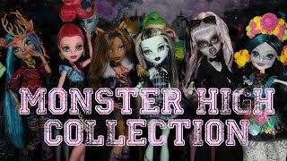HUGE MONSTER HIGH DOLL COLLECTION VIDEO 2017!!