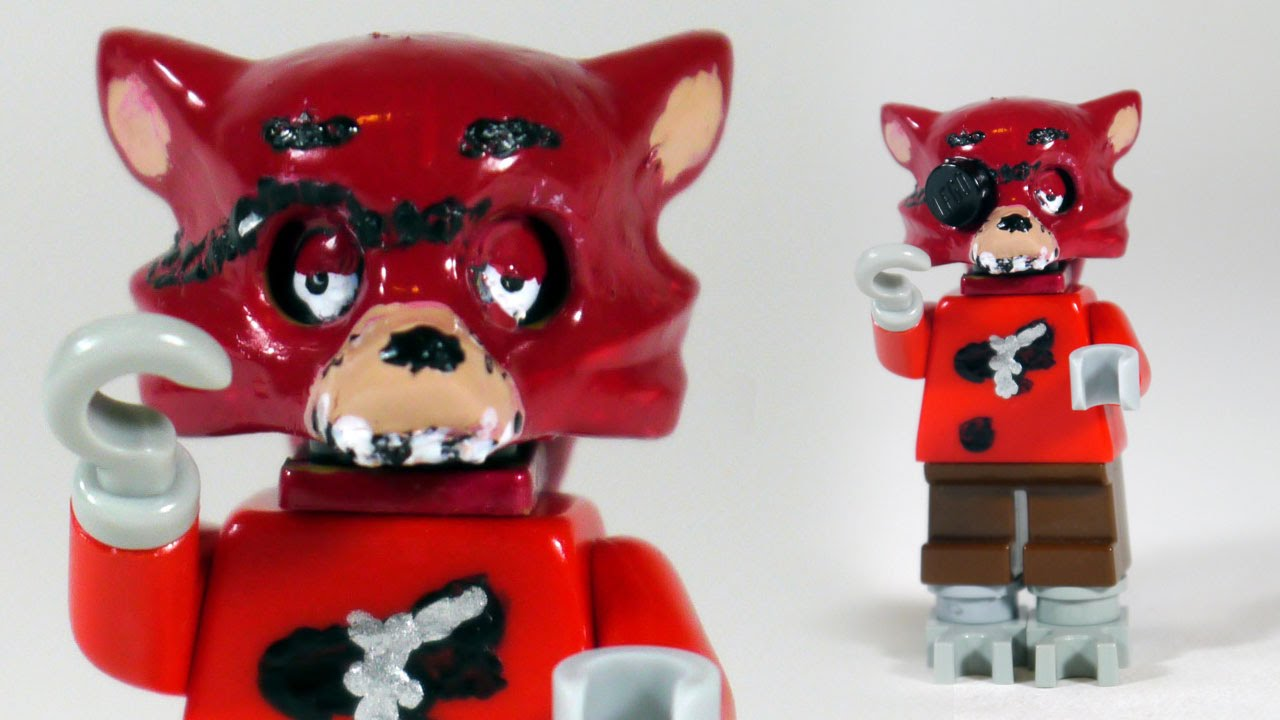 Lego fnaf foxy how to paint custom lego foxy