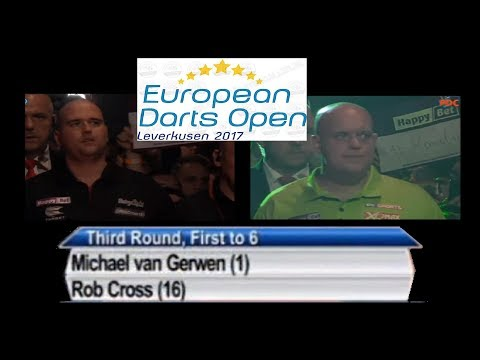 European Open Darts 2017 3rd Round Michael van Gerwen - Rob Cross