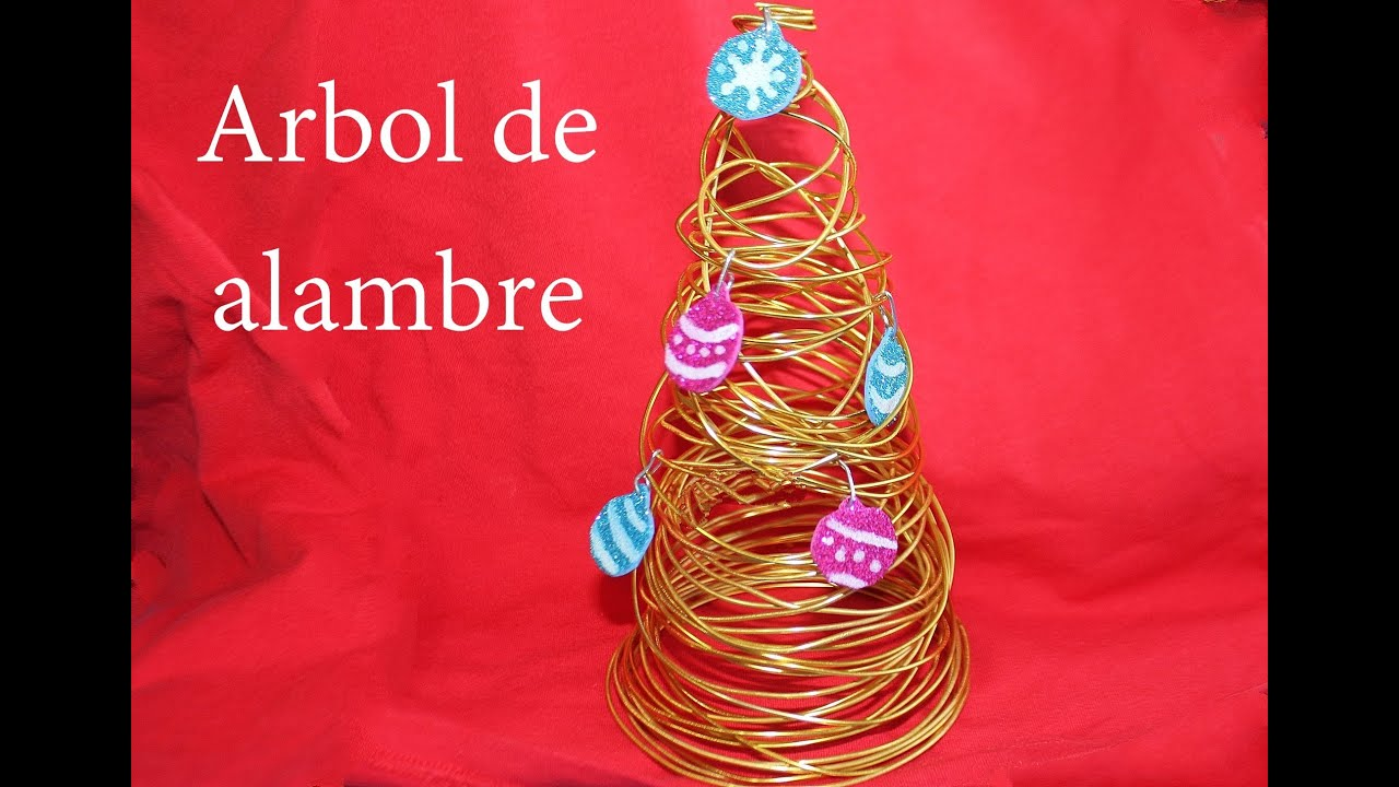 C mo hacer rbol de navidad de alambre youtube - Arbol de navidad de alambre ...
