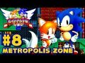 Sonic the Hedgehog 2 Genesis - (1080p) Part 8 - Metropolis Zone