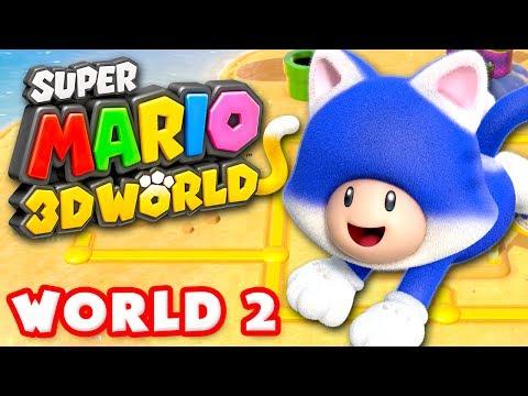 Super Mario 3D World - World 2 100% (Nintendo Wii U Gameplay Walkthrough)