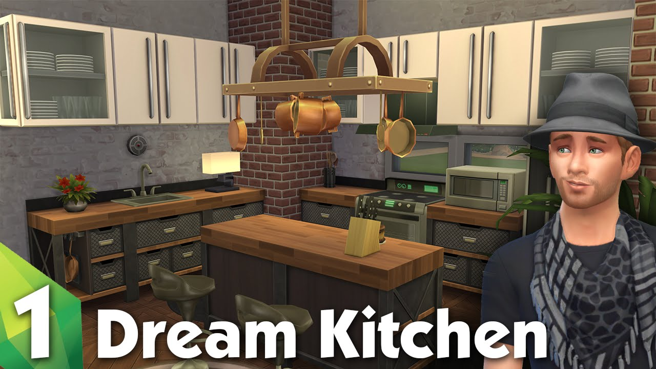 The sims 4 room design dream kitchen youtube for Sims 2 kitchen ideas
