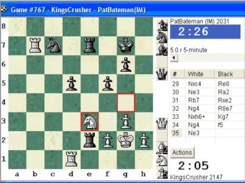 Chessworld.net : Blitz #226 vs IM PatBateman (2031) - English opening (A16) (Chessworld.net)