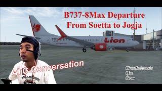B737 Max8 Lion From Soetta to Jogja LNI555 || Ivao Indonesia || Flight Simulator X