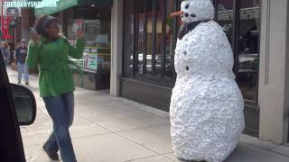 Funny - Scary Snowman Prank - Season 3 Episode 6