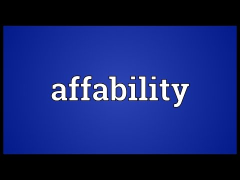 Header of Affability