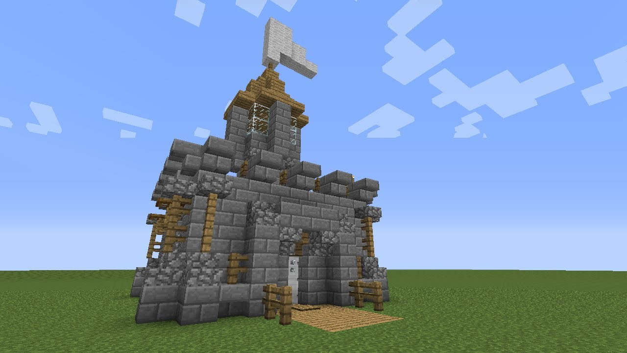 Minecraft how to build a mini castle youtube for Build a castle home