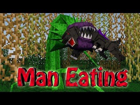 Minecraft   MONSTER EATING PLANTS Mod Showcase! (Godzilla vs Man Eating Plant)