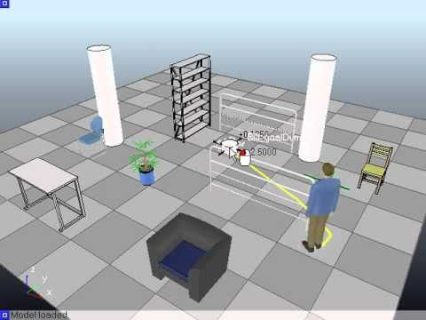 Robot Simulator: Holonomic Path Planning in V-REP