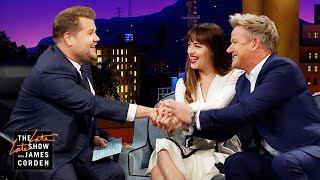 Dakota Johnson, Gordon Ramsay & James Make a Marathon Pact