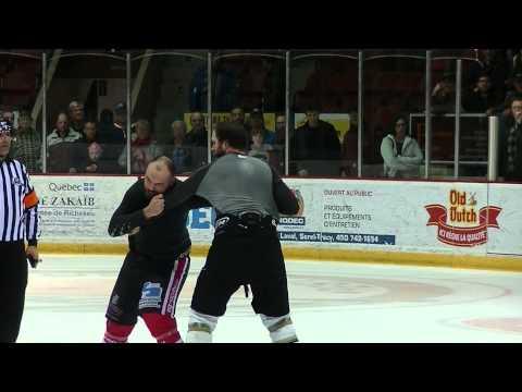 Mêlée Fin de match (Sorel vs Jonquière) + David Chicoine vs Luis Tremblay