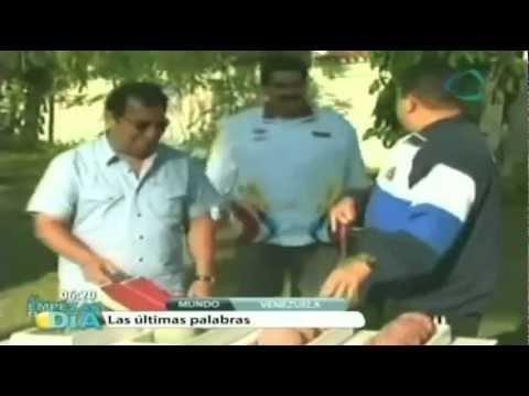 Últimas palabras de Hugo Chávez antes de morir