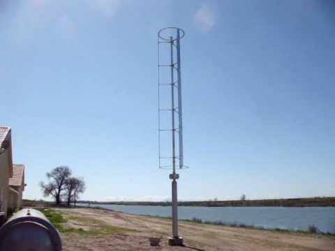 Windspire Wind Turbine In West Sacramento