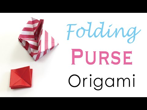 Origami Paper Folding Coin Purse Case - Origami Kawaii