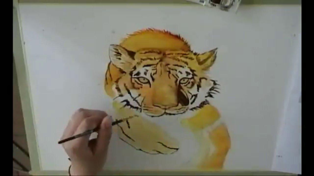 Come disegnare una tigre 2 youtube for Immagini tigre da colorare