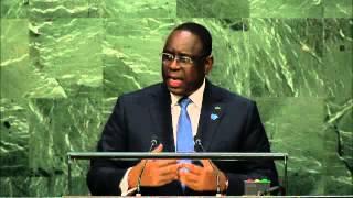 Discours de Macky Sall lors de l'AG des Nations Unies