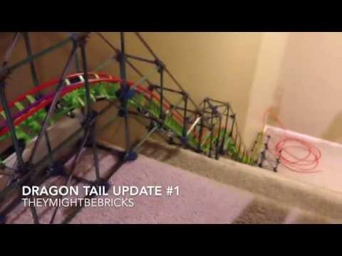 K'nex Dragon Tail Roller Coaster Update #1
