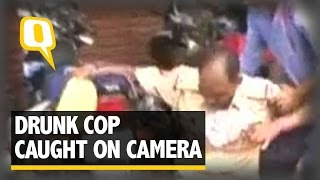 The Quint: Caught on Camera: Drunk Cop Creates a Scene in Kanpur