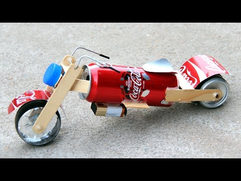 How to Make a Toy Motorcycle - Amazing Coca-Cola Motorcycle DIY