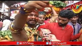 బోనాలులో పోతురాజులు..! | Potharaju Special Attraction In Ujjaini Mahankali Bonalu | NTV