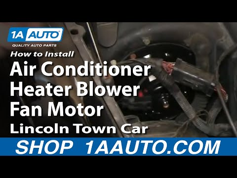 How To Install Replace Air Conditioner Heater Blower Fan Motor Lincoln Town Car 98-02 1AAuto.com