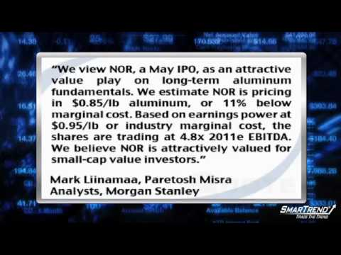 Analyst Insight: Morgan Stanley Initiated Coverage Of Noranda Aluminum With OW Rating, $11 PT (NOR)